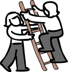Ladder freehand drawings
