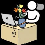 Flower freehand drawings