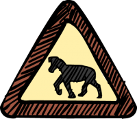 Road Sign AnimalsFreehand Image