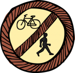 download free No pedestrians cycling image