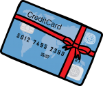 Credit card freehand drawings