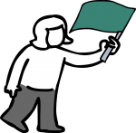 download free Flagging off image