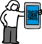 Qr code freehand drawings