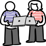 Pair programming freehand drawings
