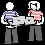 Pair programming freehand drawings