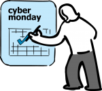 Cyber monday freehand drawings