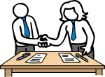 Business Deal freehand drawings