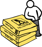 Yellow pages freehand drawings