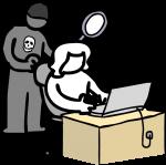 Hacker freehand drawings