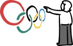 Olympic freehand drawings