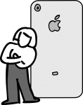 Apple product freehand drawings