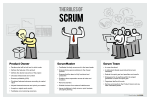 The Roles Of Scrum freehand drawings