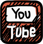 Youtube icon freehand drawings