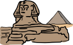 Sphinx egypt freehand drawings