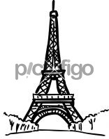 Eiffel tower paris franceFreehand Image