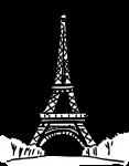 Eiffel tower paris france freehand drawings