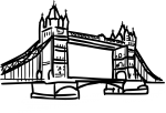London bridge london uk freehand drawings