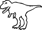 Dinosaur freehand drawings