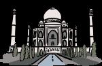 Taj mahal agra india freehand drawings
