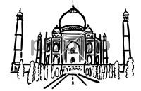 Taj mahal agra indiaFreehand Image
