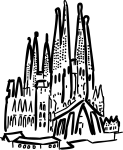 Sagrada familia barcelona spain freehand drawings