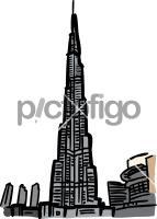 Burj khalifa dubaiFreehand Image