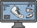 E-Commerce freehand drawings