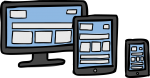 Responsive web design freehand drawings