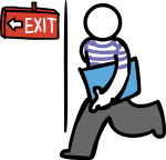 Exit freehand drawings