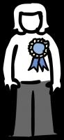 Ribbon badgeFreehand Image