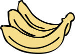 Banana freehand drawings