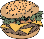 Hamburger freehand drawings