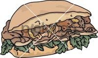 Turkey Cheese BurgerFreehand Image