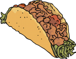 Tacos Turkey freehand drawings