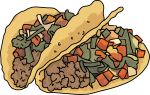 Tacos Ground Beef freehand drawings