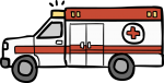 Ambulance freehand drawings