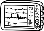 ECG Monitor freehand drawings