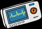 ECG Monitor freehand drawings