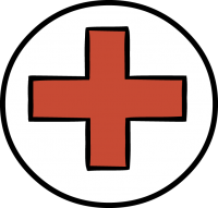 Red crossFreehand Image