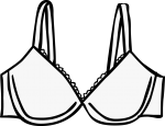 Bras women freehand drawings