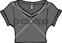 Cropped jersey top womenFreehand Image