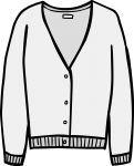 Fine knit cardigan women freehand drawings