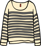 Fine knit jumper women freehand drawings