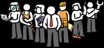 Workforce freehand drawings