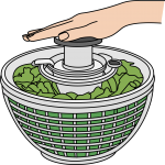 Salad Spinner freehand drawings