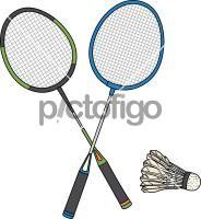 Badminton RacketFreehand Image