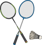 Badminton Racket freehand drawings