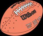 American Football freehand drawings