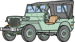 Jeep freehand drawings