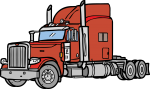 Big Rig freehand drawings